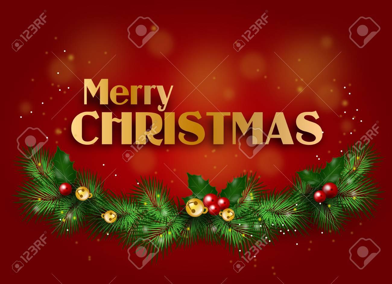 Merry Christmas Greetings.Stock Illustration