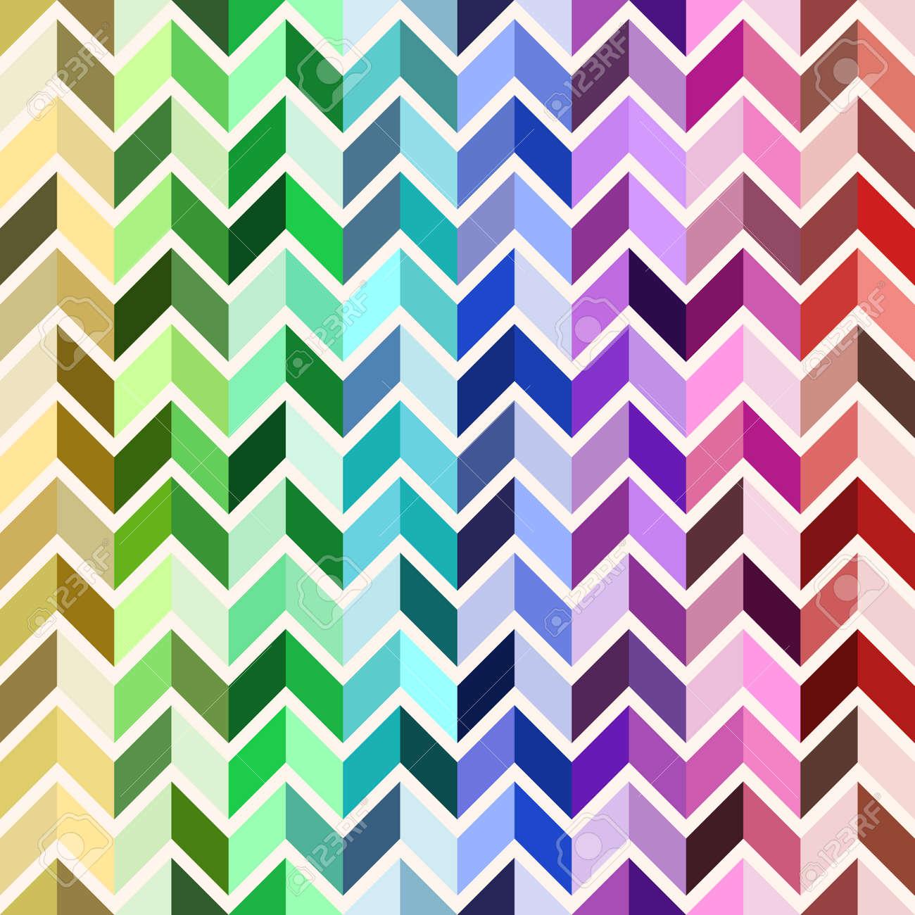 Modelo Geométrico Inconsútil, Mosaico Colorido, Color Del Arco Iris ...