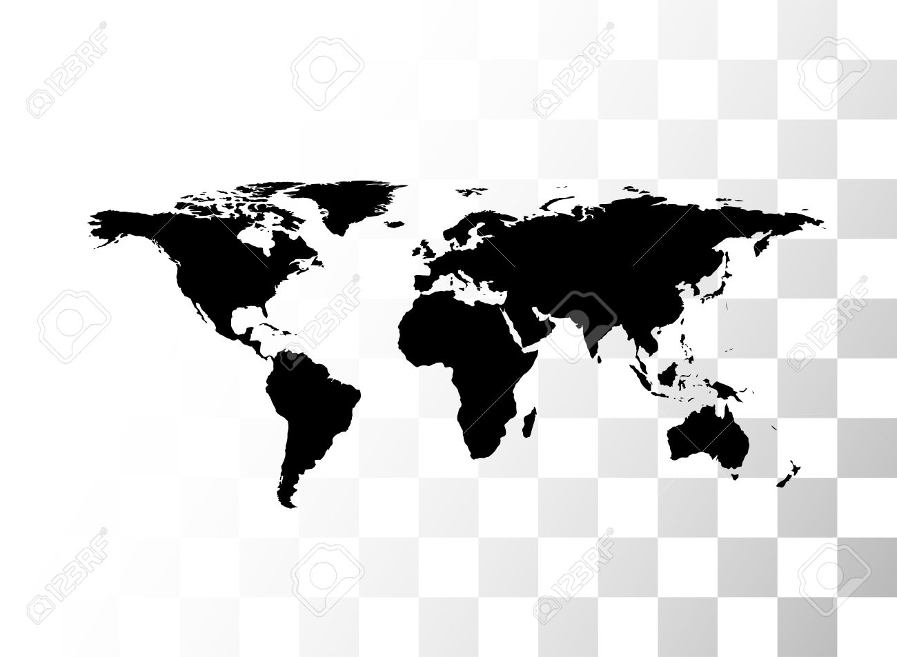 Vector black world map with transparent background royalty free vector vector black world map with transparent background gumiabroncs Images