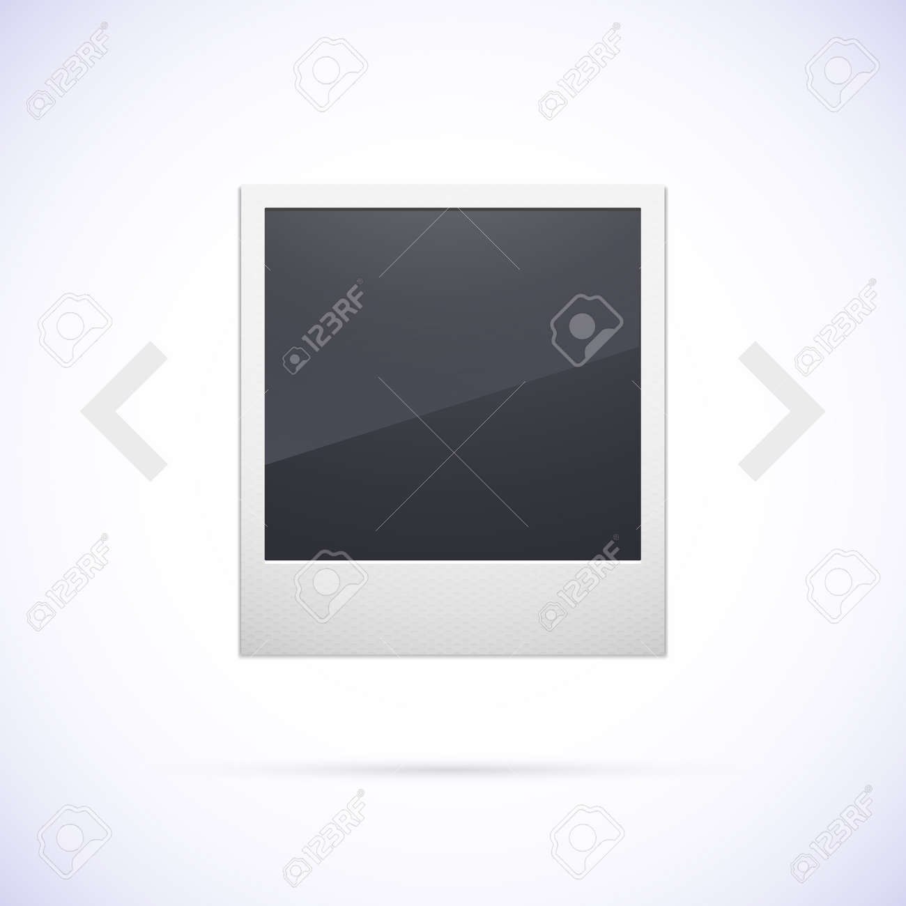Retro Photo Frame Isolated On White Background, With Scrolling ...