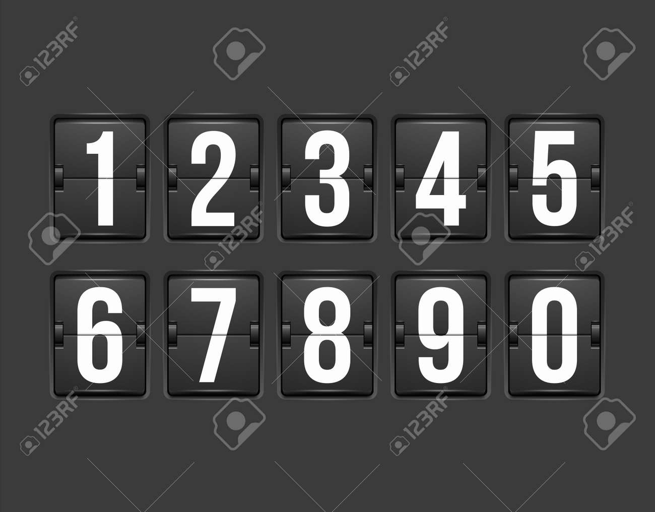 Countdown timer, white color mechanical scoreboard with different