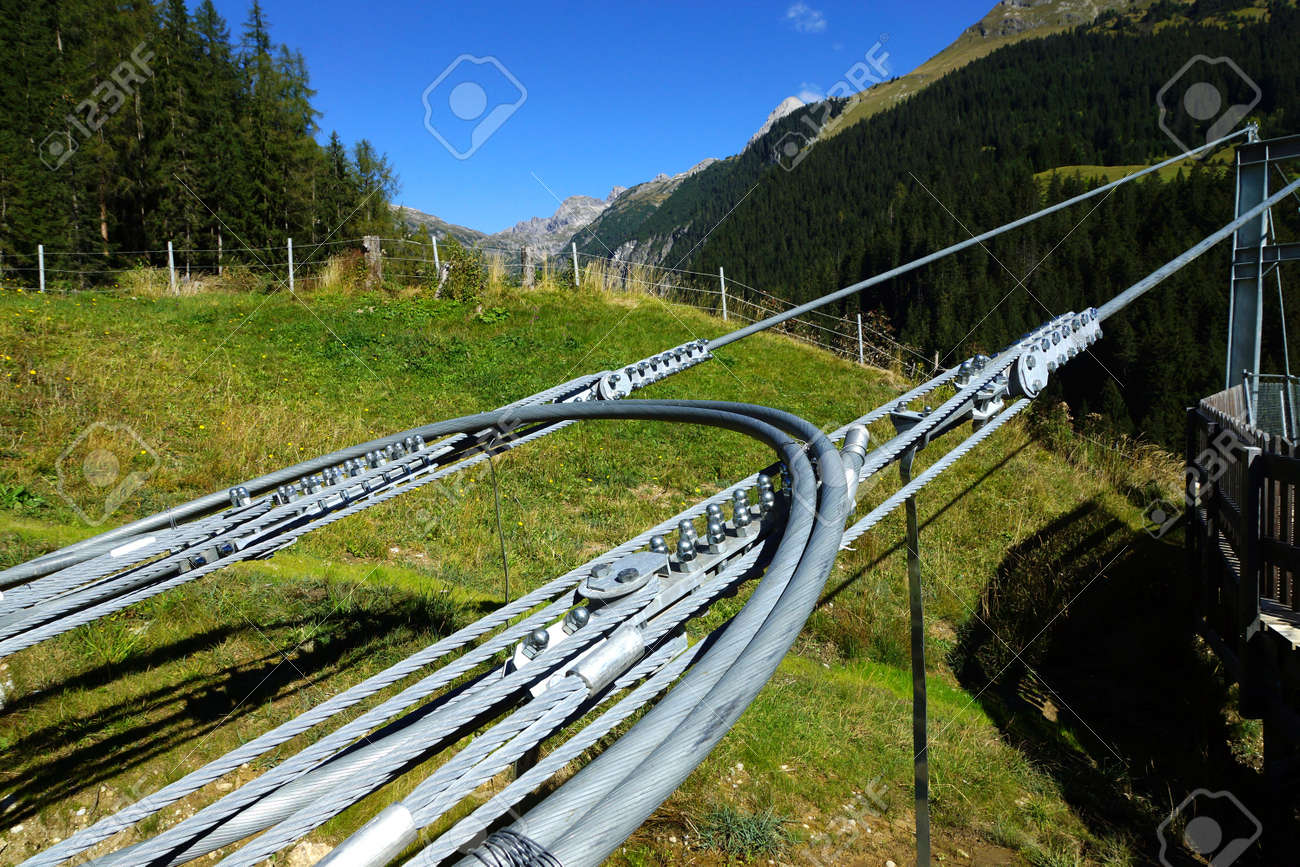 Wire Rope Suspension Bridge Stock Photo, Picture And Royalty Free ...