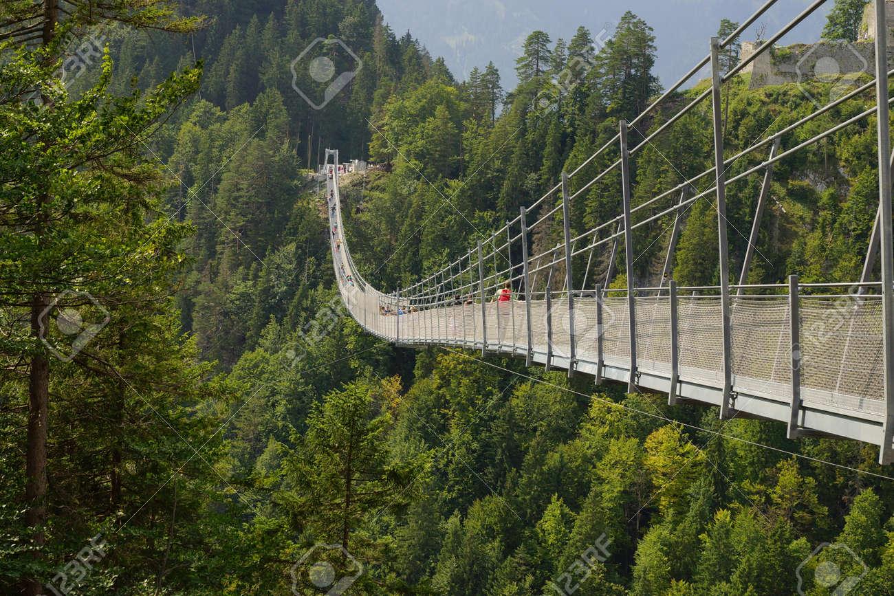 Suspension Bridge Highline 20 Reutte Austria Stock Photo, Picture ...