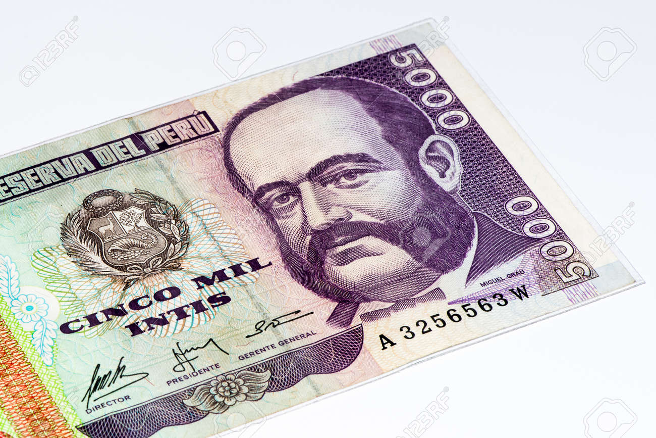 5000 intis bank note inti is the former currency of peru stock inti is the former currency of peru stock photo 61852046 thecheapjerseys Choice Image