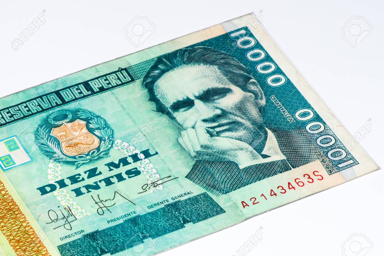 10000 intis bank note inti is the former currency of peru stock inti is the former currency of peru stock photo 61851870 thecheapjerseys Choice Image