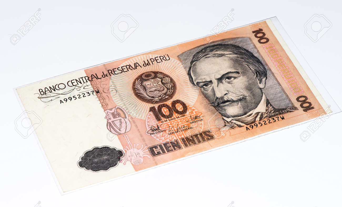 100 intis bank note inti is the former currency of peru stock photo inti is the former currency of peru stock photo 61980409 thecheapjerseys Choice Image