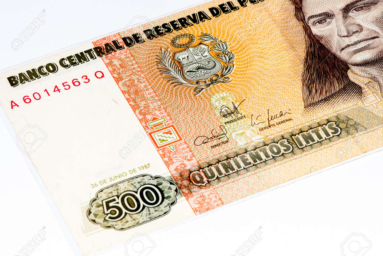 500 intis bank note inti is the former currency of peru stock photo inti is the former currency of peru stock photo 61980598 thecheapjerseys Choice Image