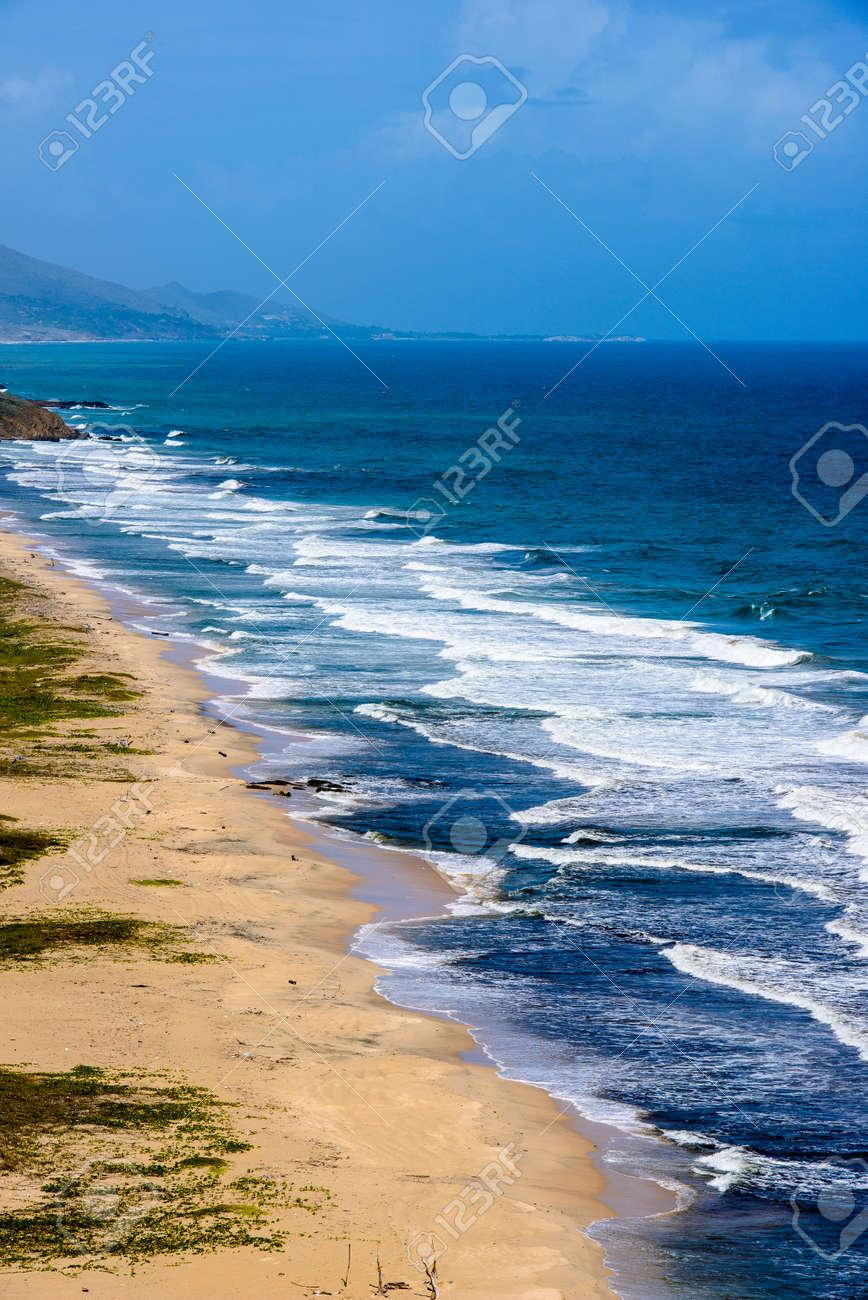 Berühmt Caribbean Beautiful Beach Of The Isla Margarita, Venezuela Stock &XS_35