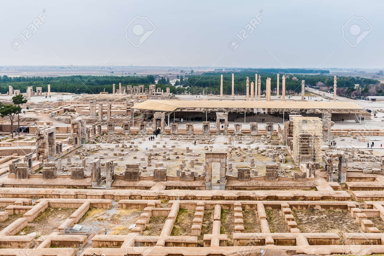 Panoramic View Of The Ancient City Of Persepolis Iran Stock Photo Picture And Royalty Free Image Image 92033944