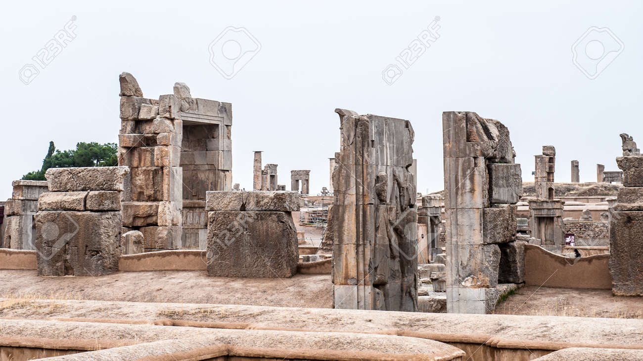 Apadana Of Xerxes In The Ancient City Of Persepolis Iran Stock Photo Picture And Royalty Free Image Image 92021733