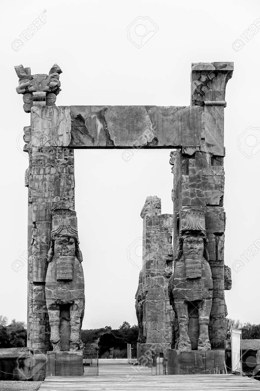 New Gate Of Persepolis The Ceremonial Capital Of The Achaemenid Stock Photo Picture And Royalty Free Image Image 92022067
