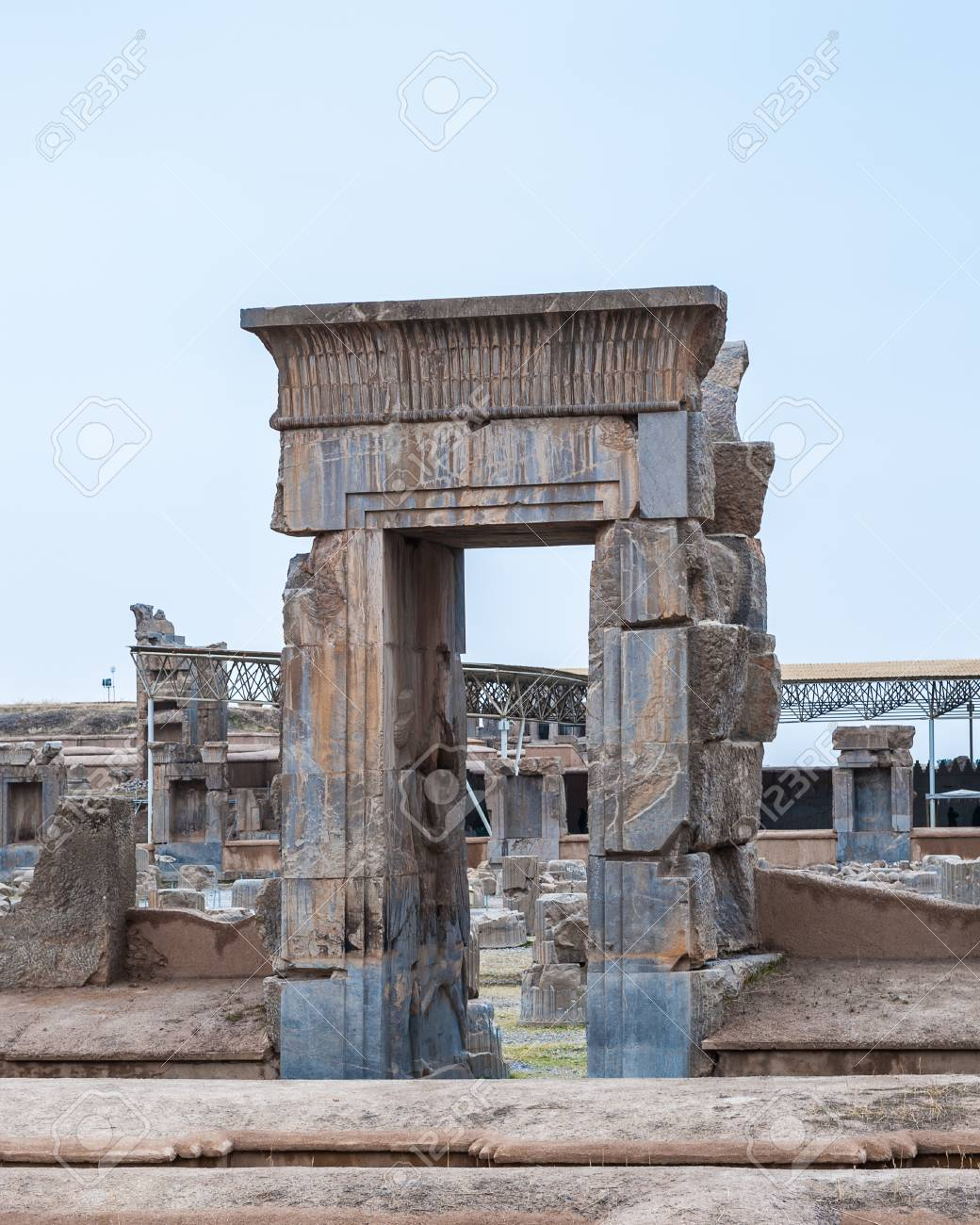 Apadana Of Xerxes In The Ancient City Of Persepolis Iran Stock Photo Picture And Royalty Free Image Image 92022229