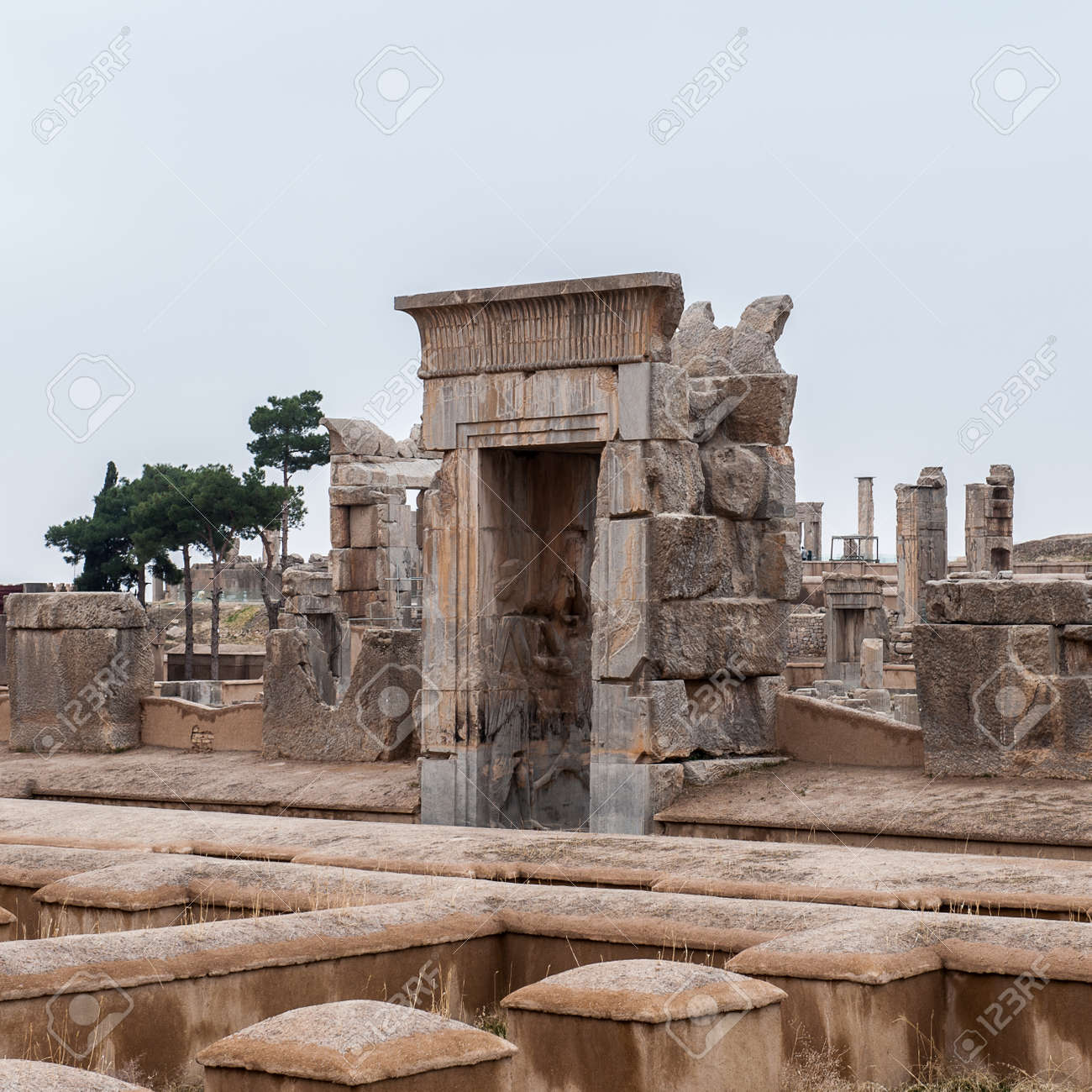 Apadana Of Xerxes In The Ancient City Of Persepolis Iran Stock Photo Picture And Royalty Free Image Image 92091896