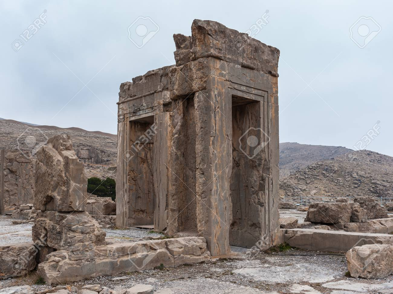 Ancient City Of Persepolis Iran Apadana Of Xerxes Unesco World Stock Photo Picture And Royalty Free Image Image 91927930