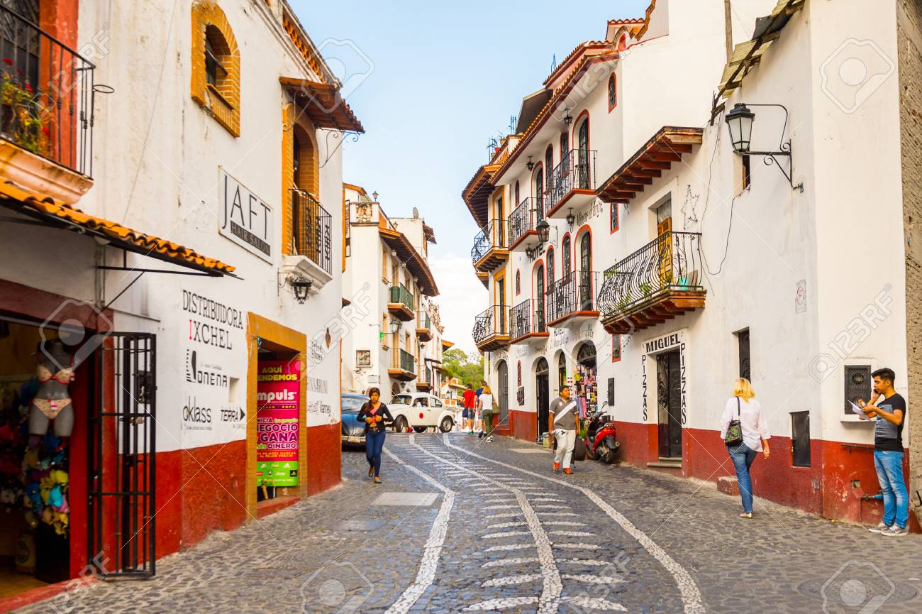 Taxco Mexico Oct 28 2016 Beautiful View Of Taxco Street Stock Photo Picture And Royalty Free Image Image 104326607