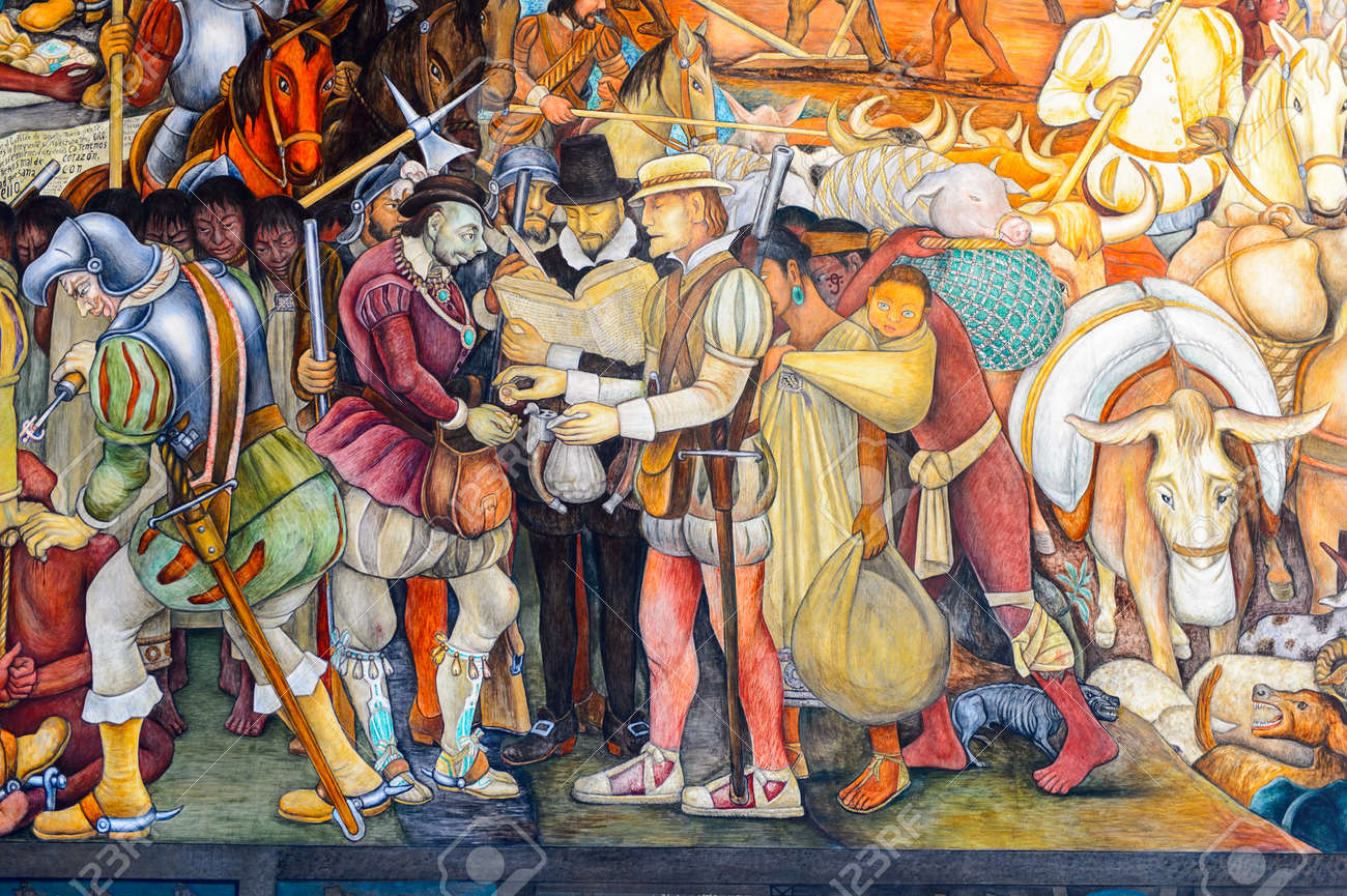 Mexico City Mex Oct 27 2016 Diego Rivera Mural National