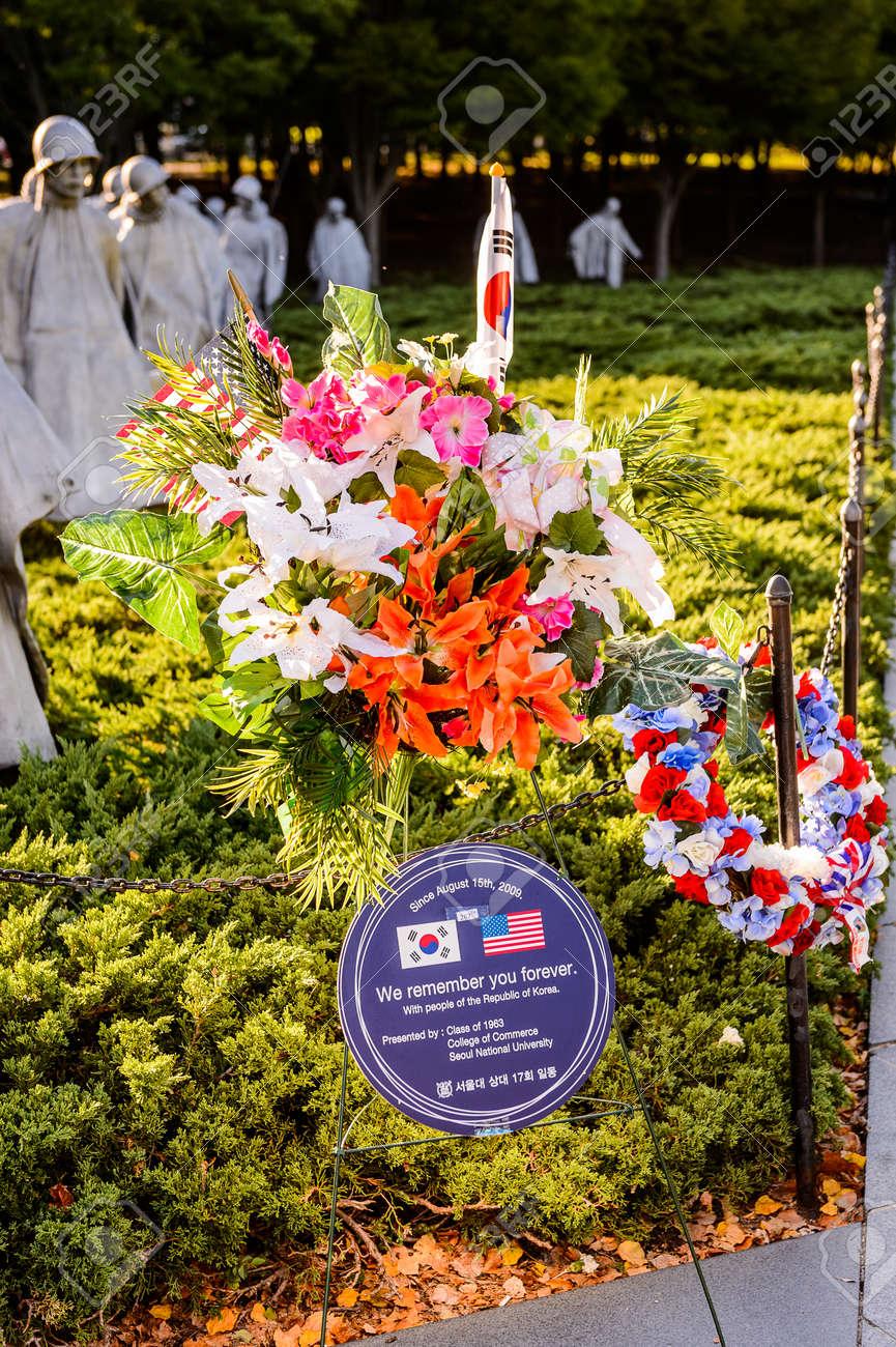 Washington Dc Usa Sep 24 2015 Korean War Veterans Memorial