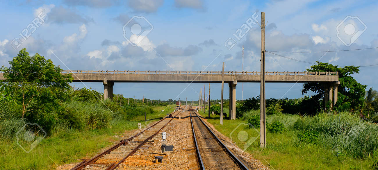 Rail Road In Matanzas One Of The Major Provinces In Cuba