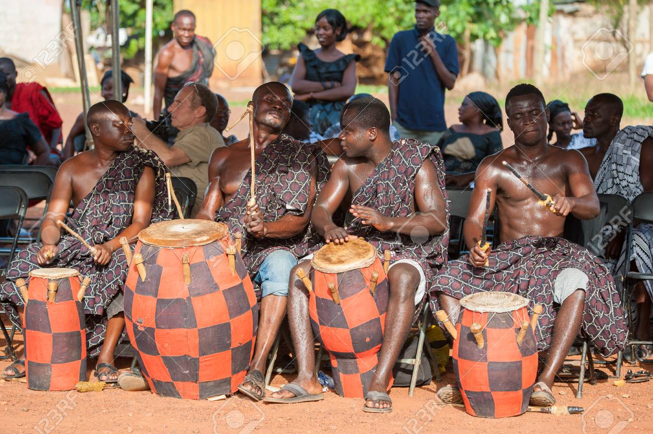 GHANA - MARCH 3, 2012: Unindentified Ghanaian local musicians