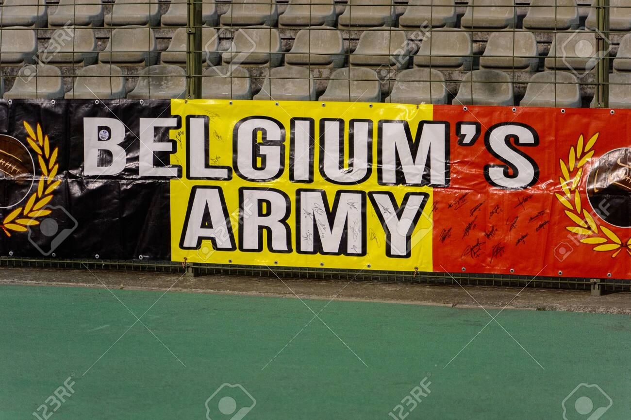 Brussels Nov 15 2018 Belgium Fans At The Stadium Belgium Stock Photo Picture And Royalty Free Image Image 121056575