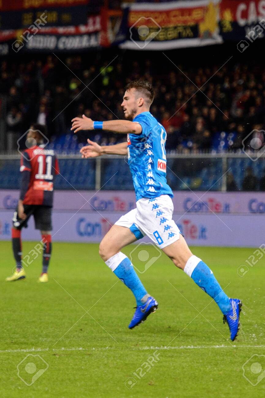 Genova Nov 10 2018 Fabian Ruiz 8 Celerates The Goal C F C Stock Photo Picture And Royalty Free Image Image 143911180