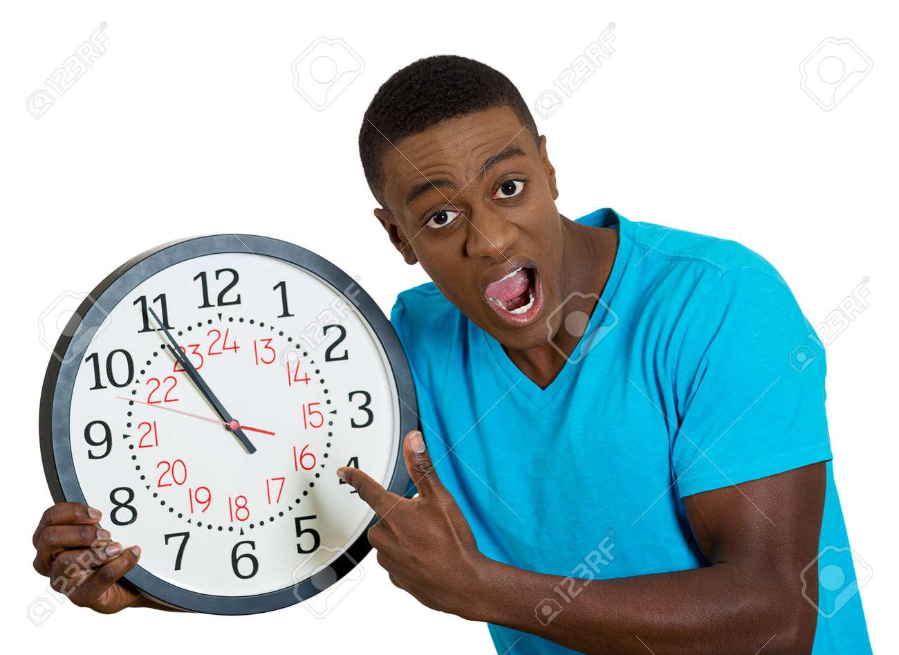 Del Gracioso Estudiante Primer De Hombre Uñas Aspecto La Retrato ParedSubrayó Celebración Falta Por Morderse Presionados Reloj Las GqSpLUzVM