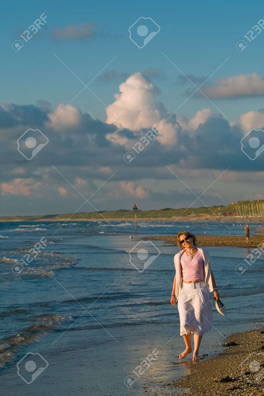 attractive blond girl at the seaside Stock Photo - 1328860