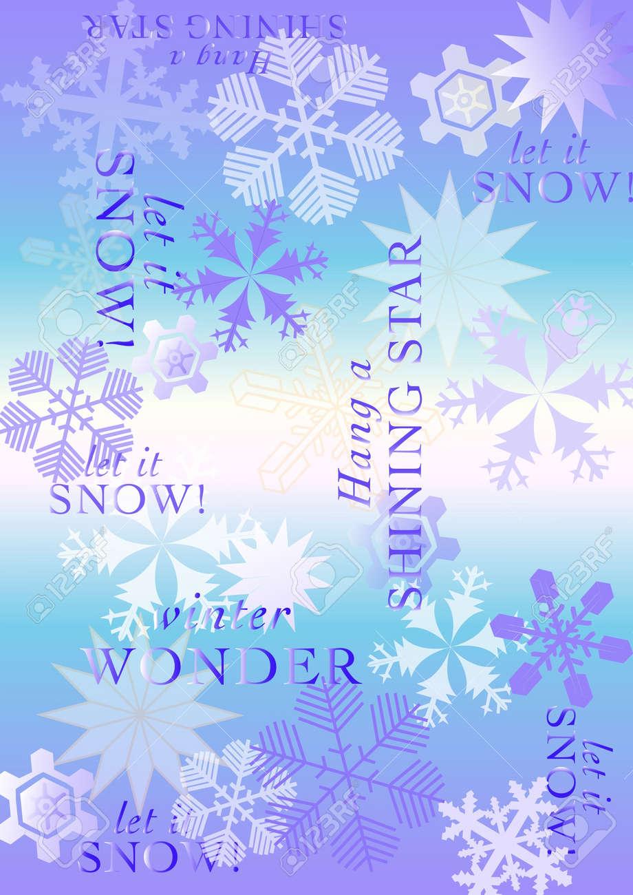snowflake vector holiday pattern Stock Vector - 17086339