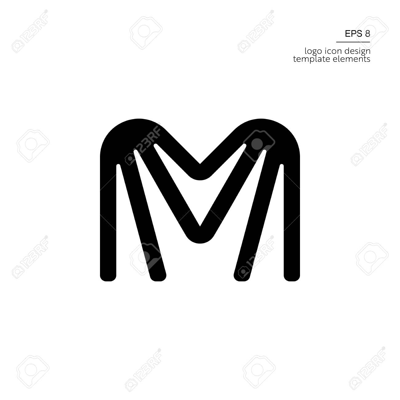 166385dd015cc Letter M Logo Icon Design Template Elements Royalty Free Cliparts ...