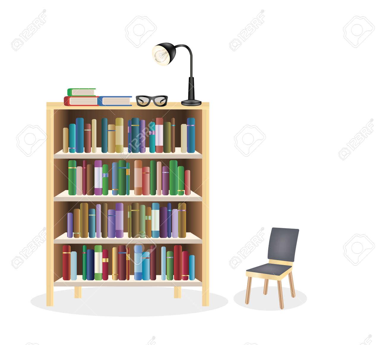 bookcase Stock Vector 54461977 Bookcase Royalty