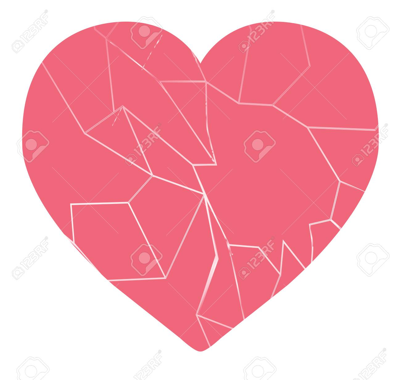 a broken heart vector isolated royalty free cliparts vectors and rh 123rf com Vector Heart with Broken Pieces broken heart vector images