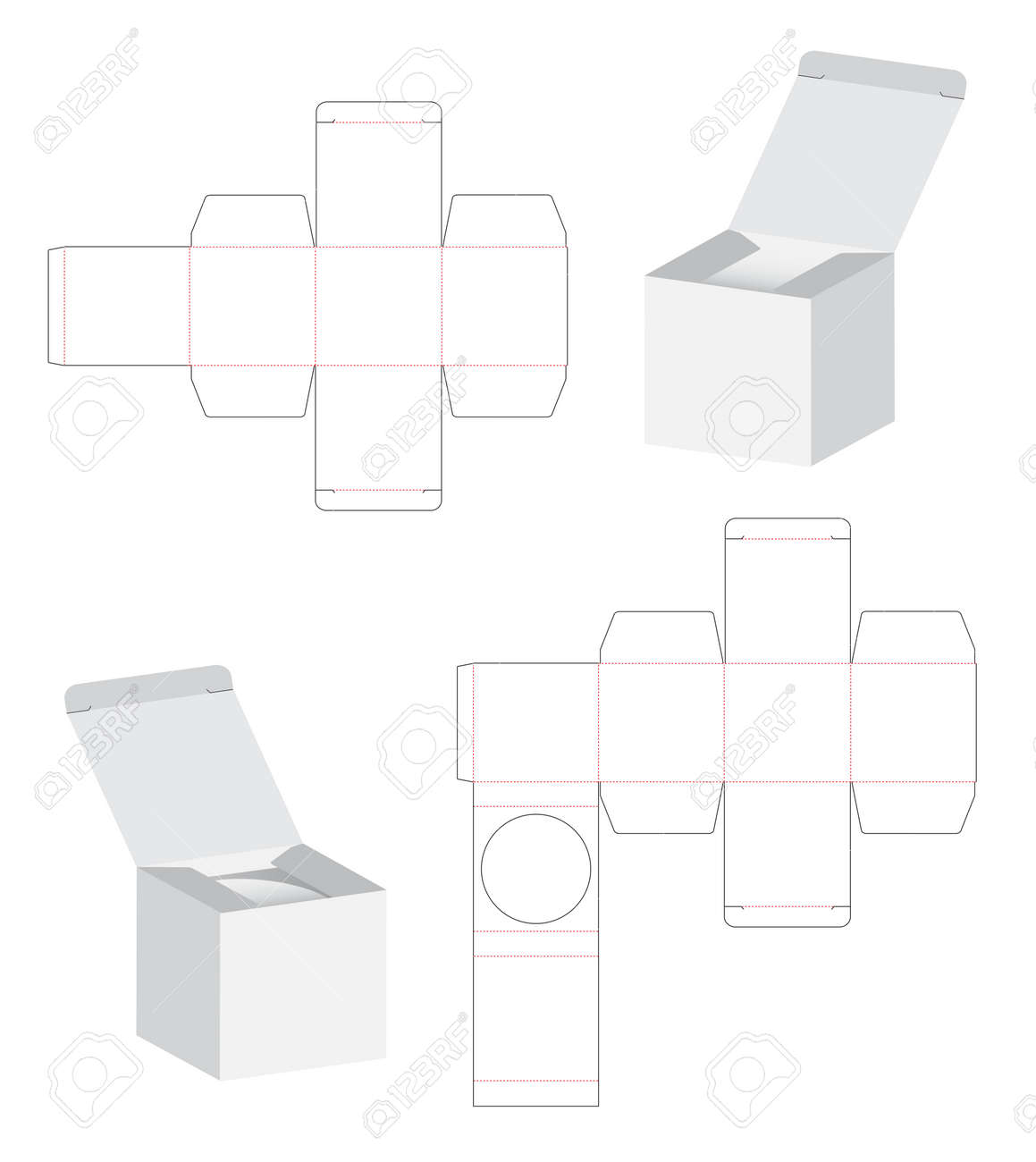 Box Packaging Die Cut Template Design. 3d Mock-up Illustration ...