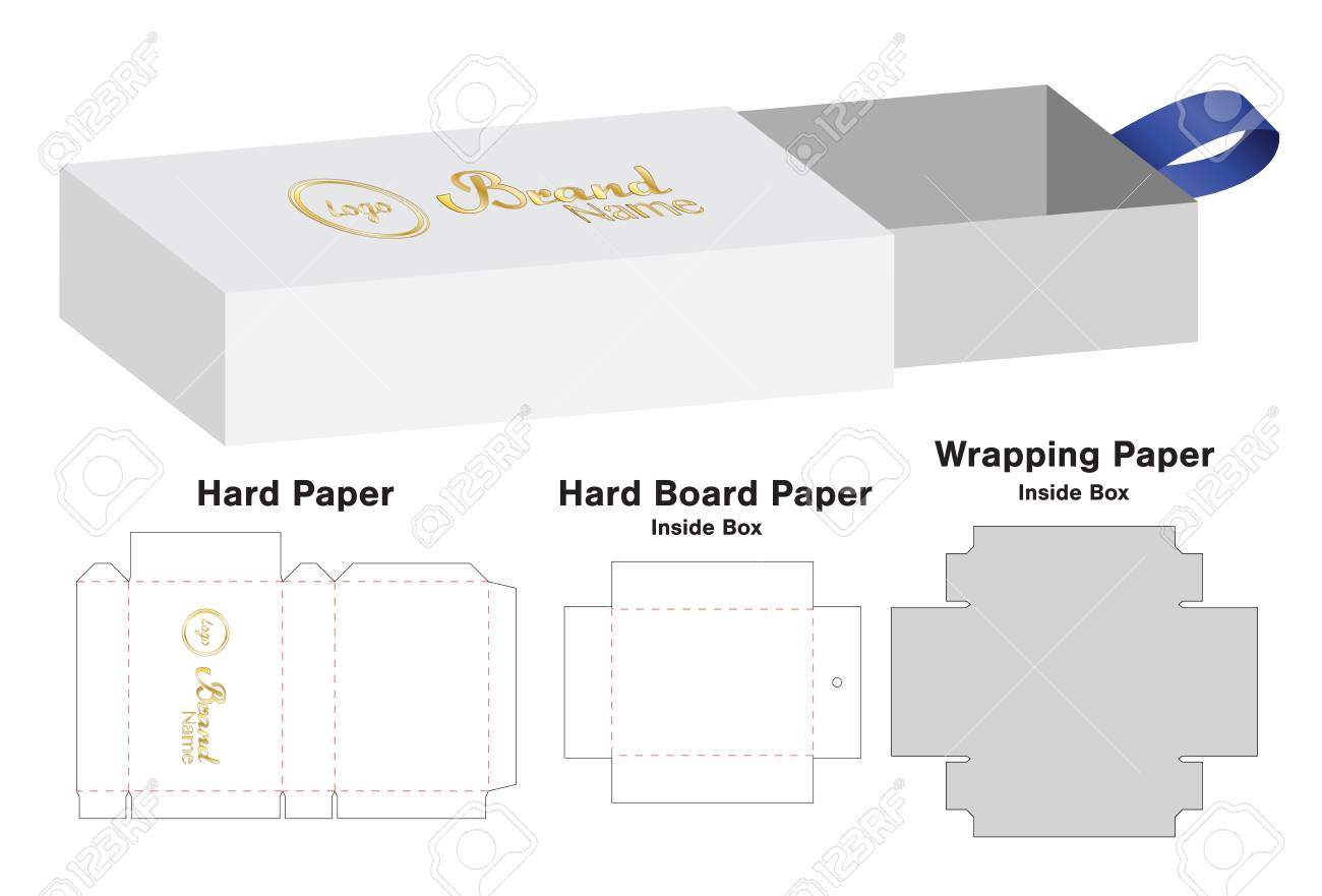 Box Packaging Die Cut Template Design. 3d Mock-up Vector ...