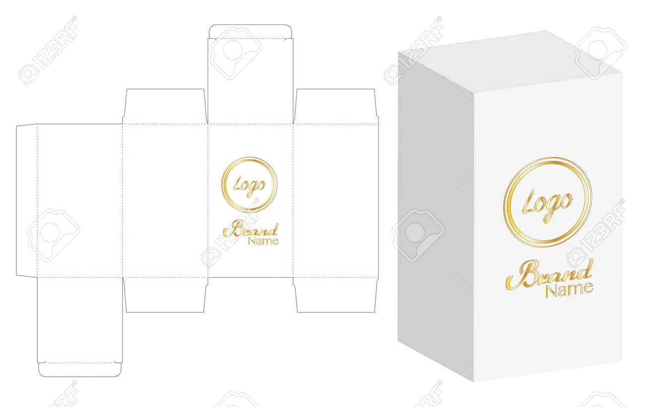 Box Packaging Die Cut Template Design. Royalty Free Cliparts ...