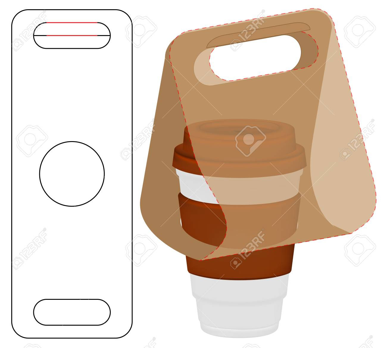 Box packaging die cut template design. 3d mock-up - 117426420