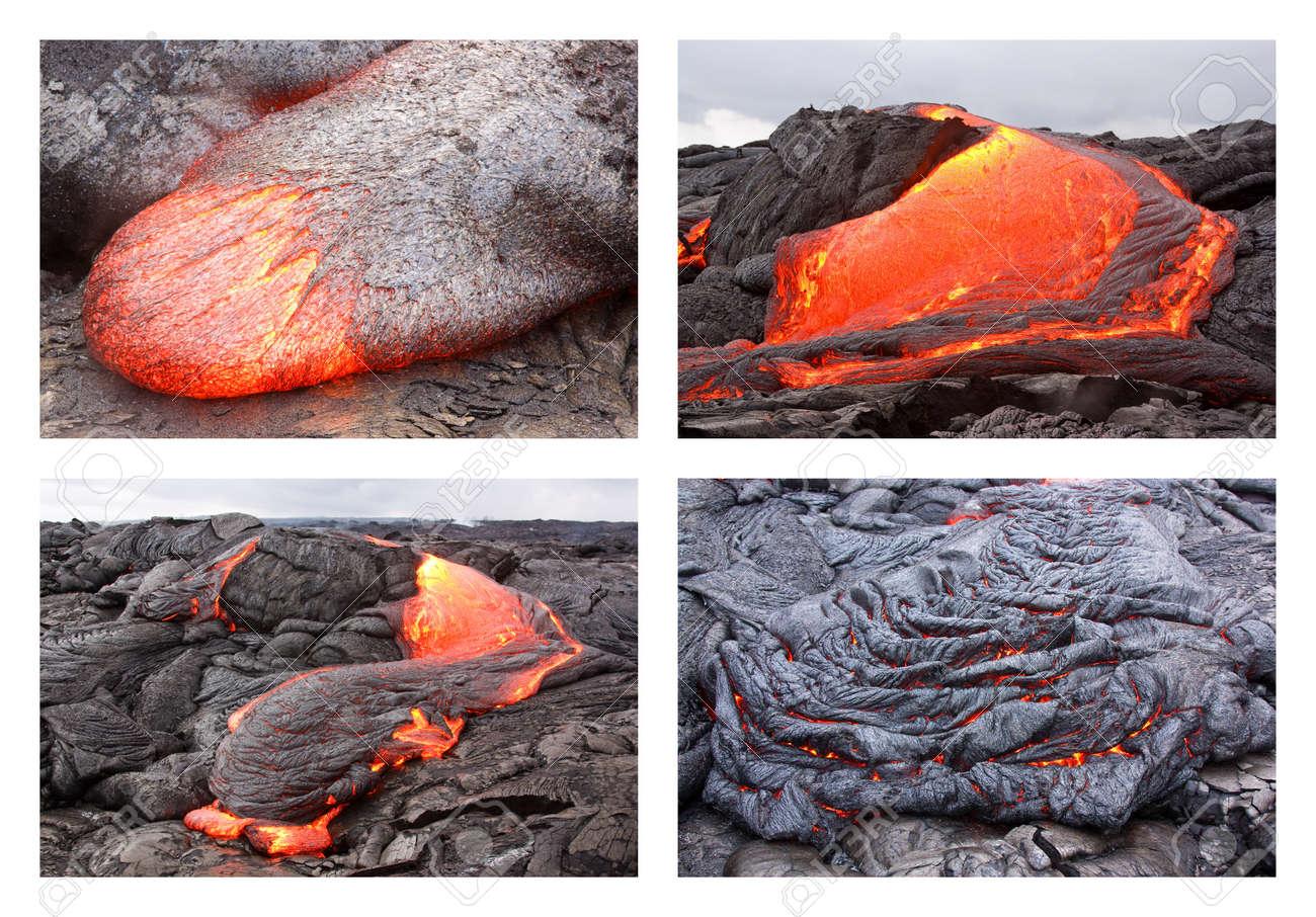 ハワイのキラウエア火山 Pu 玄武...