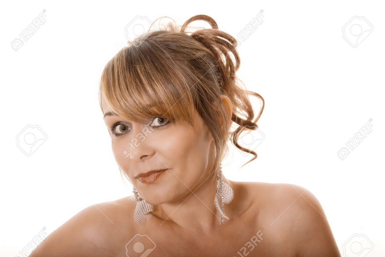 portrait of woman with wide eyes Stock Photo - 9939401