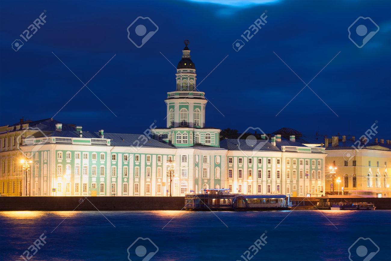 写真素材 , 建物の Kunstkamera、6 月の夜。サンクトペテルブルク、ロシア