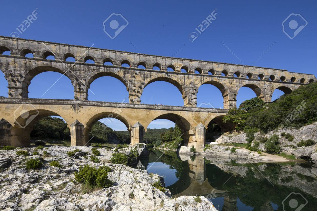 pont du gard gard bridge is an ancient roman aqueduct bridge