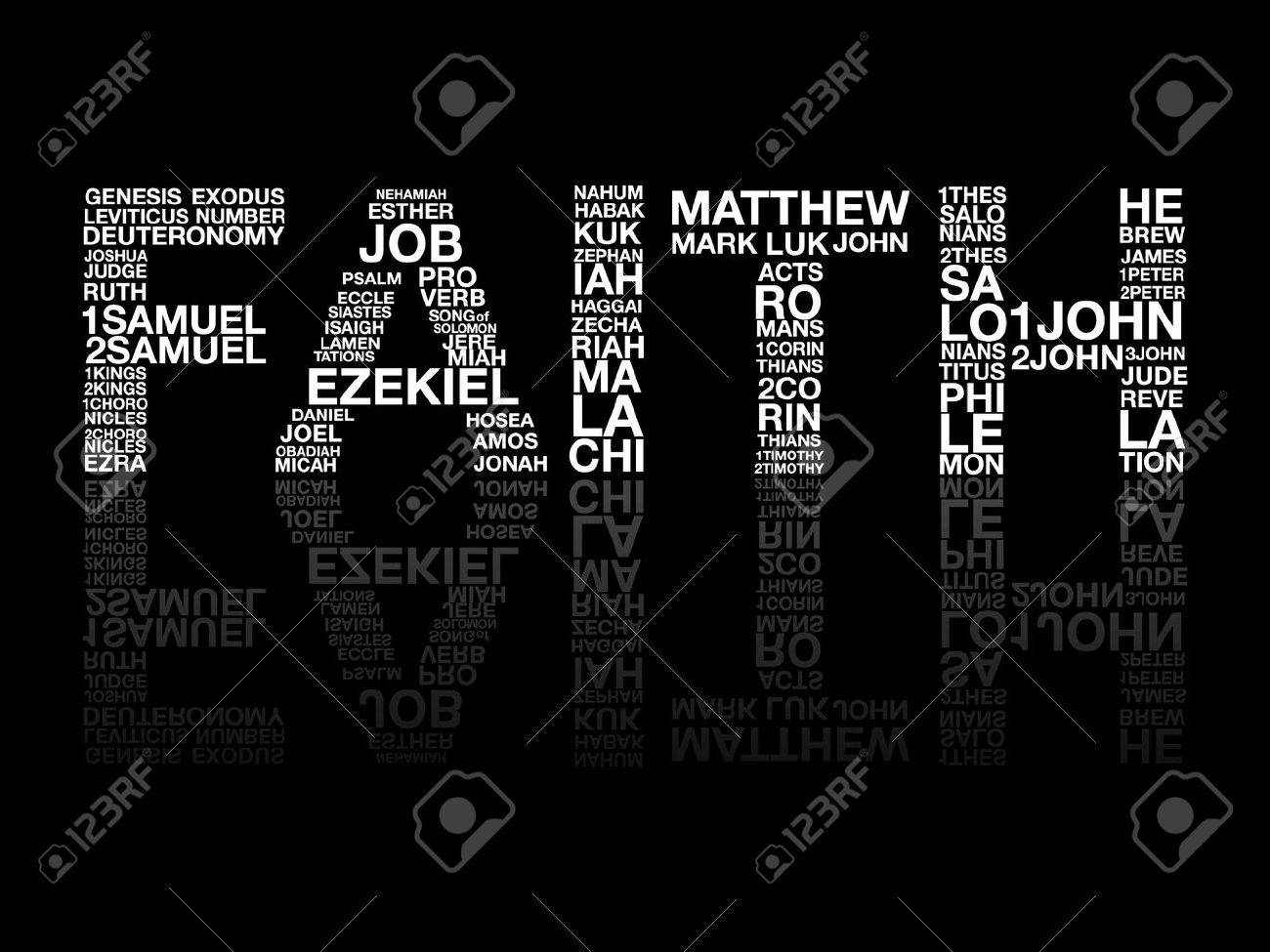 Faith from bible word graphic vector. - 39871212