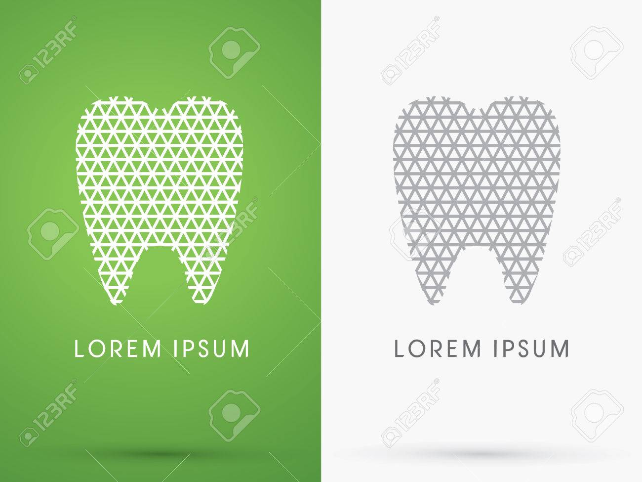 Abstract Tooth, Dental Medicine, Designed Using White Triangle ...