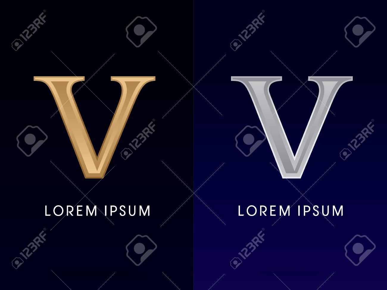 worksheet V Roman Numeral 5 v luxury gold and silver roman numerals sign logo symbol symbol