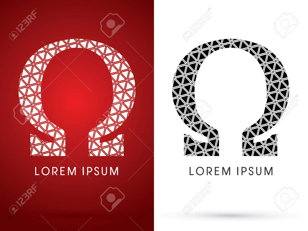 Omega modern font designed using white and black triangle omega modern font designed using white and black triangle geometric shape on red buycottarizona