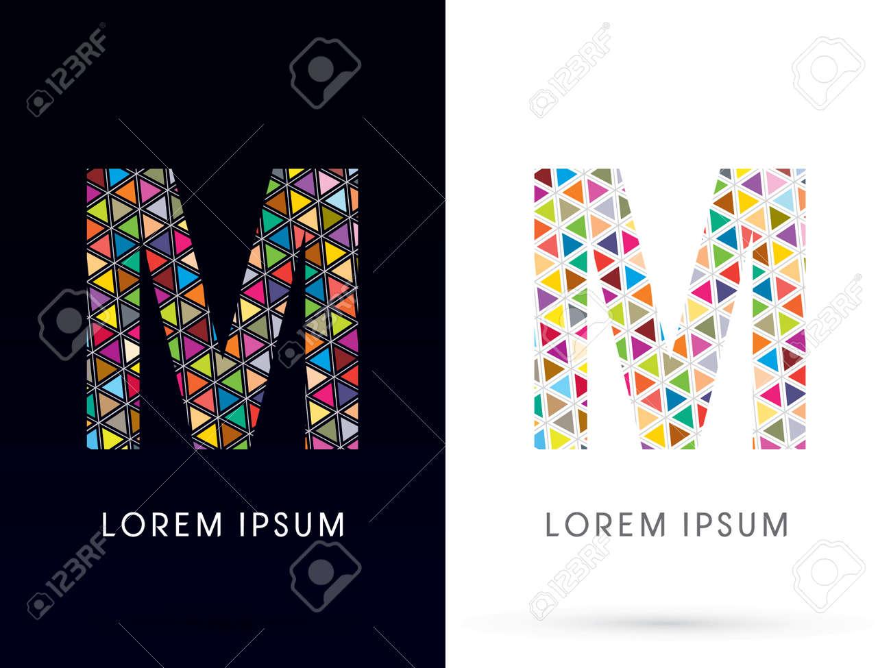 Souvent M, La Police Coloré, Modèle Concept De Mosaïque, Conçu En  TI63