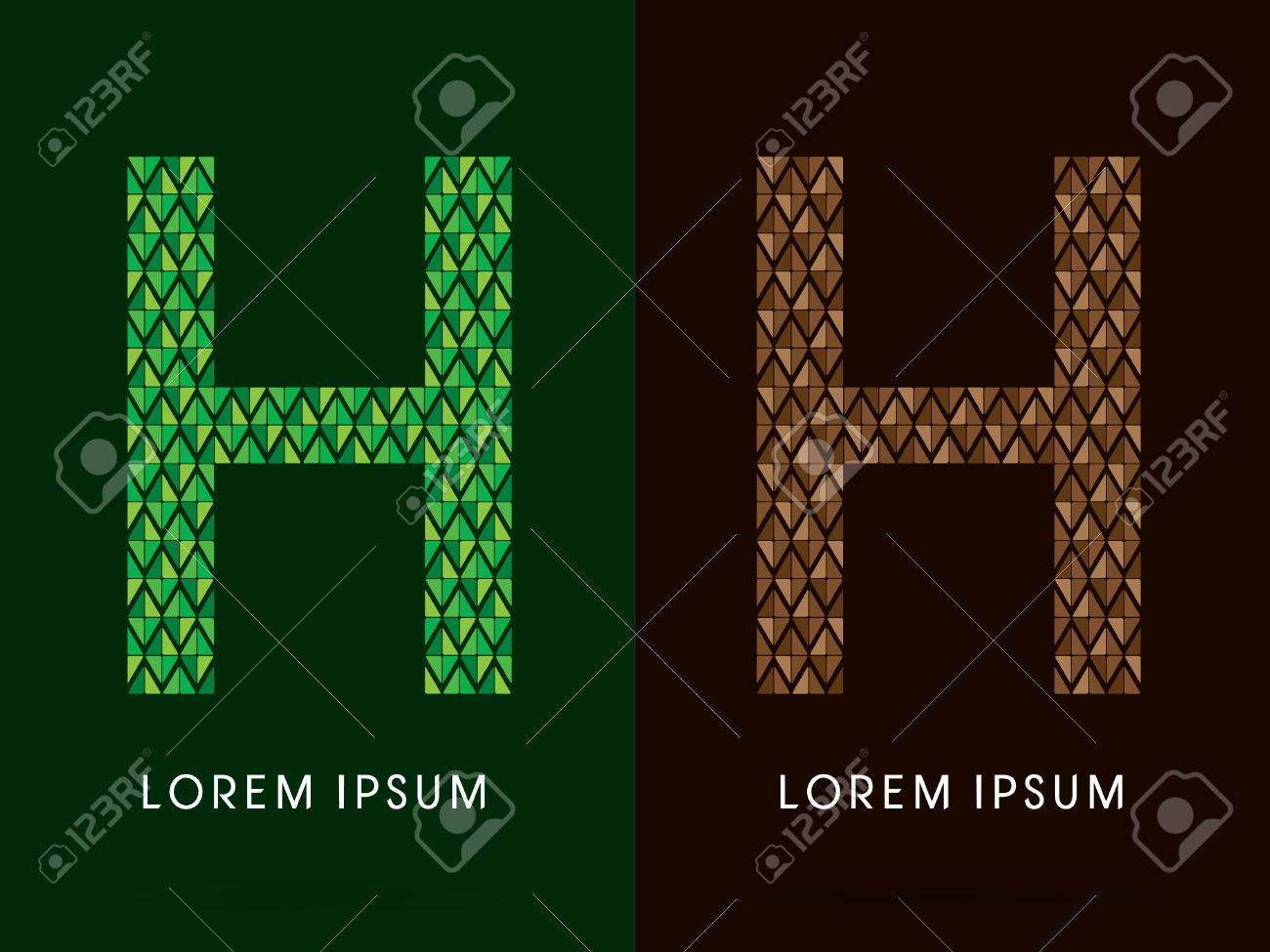H font concept leaf and rock designed using colors green h font concept leaf and rock designed using colors green and brown colors biocorpaavc Gallery