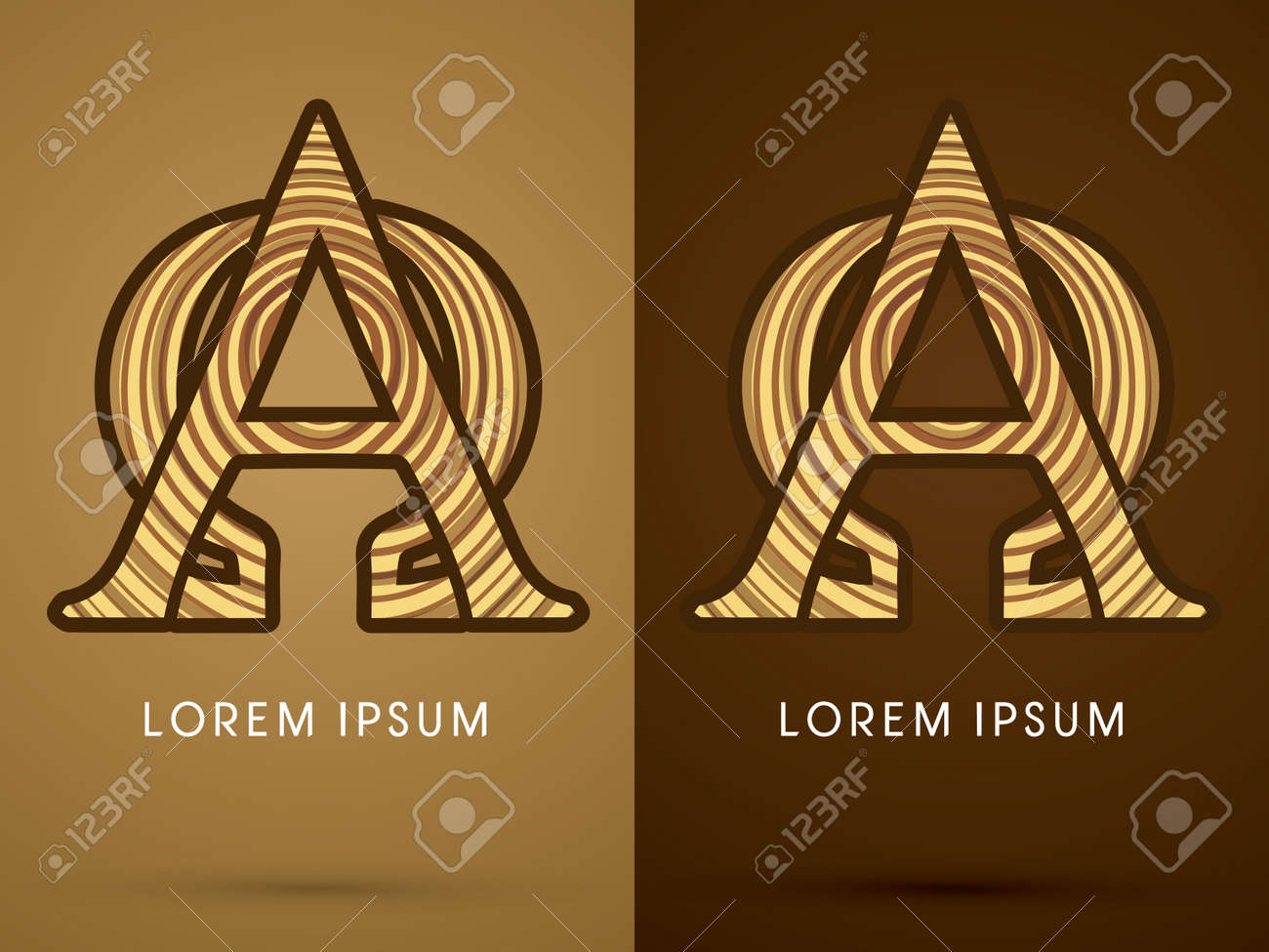 Alpha And Omega Abstract Font Concept Wood Sign Logo Symbol