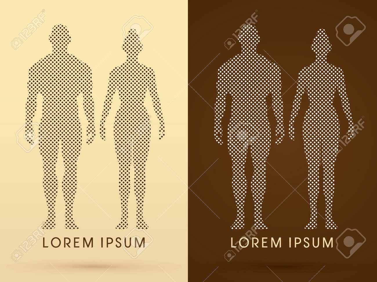 Männliche Und Weibliche Anatomie, Menschlicher Körper, Voller Körper ...