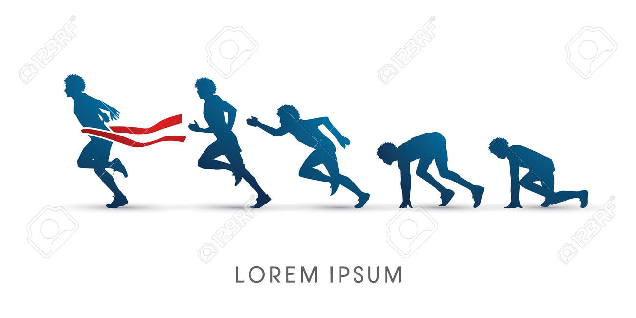 The process of running,graphic vector - 47390947