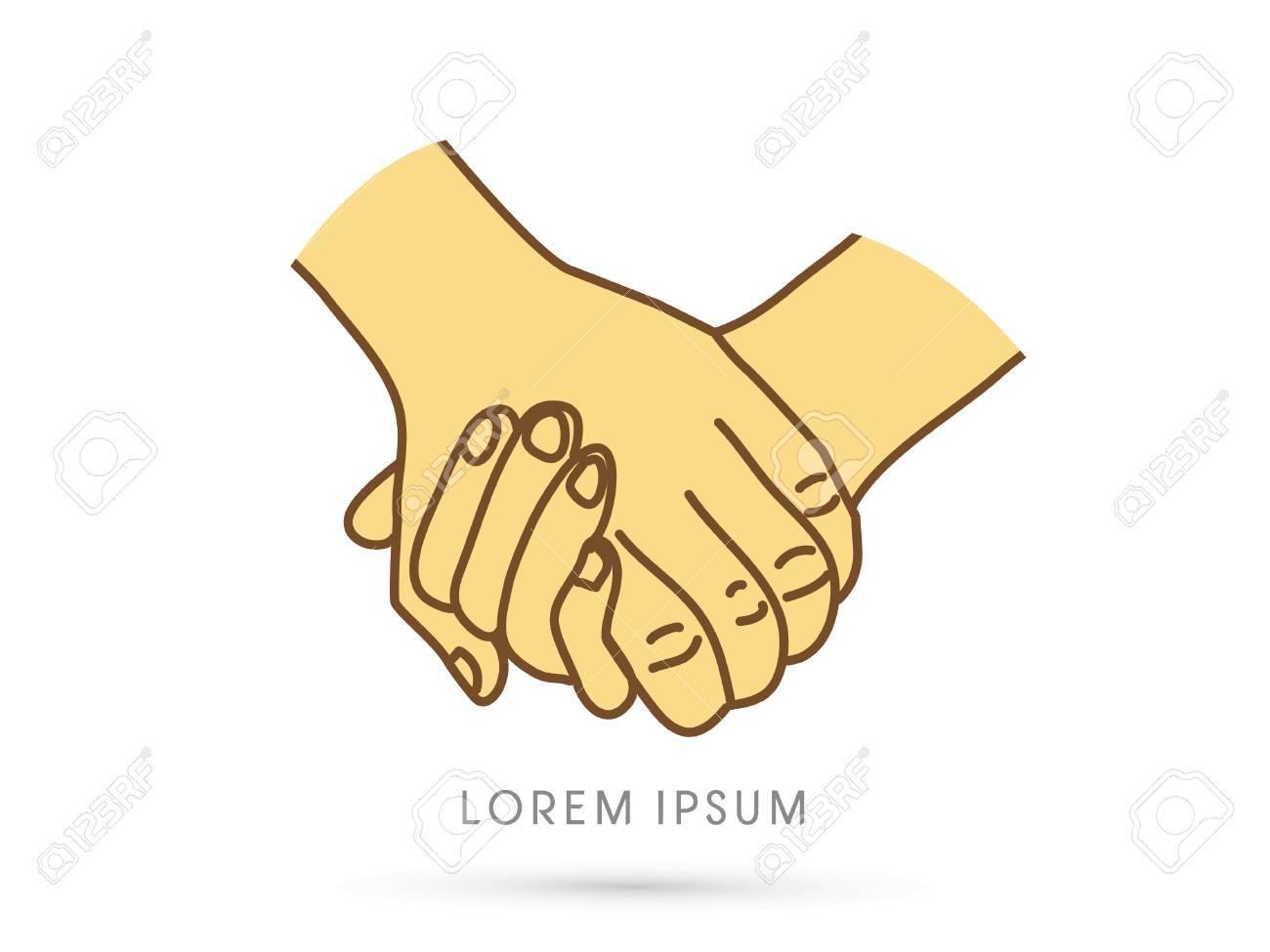 Zeichen händchen halten Händchenhalten