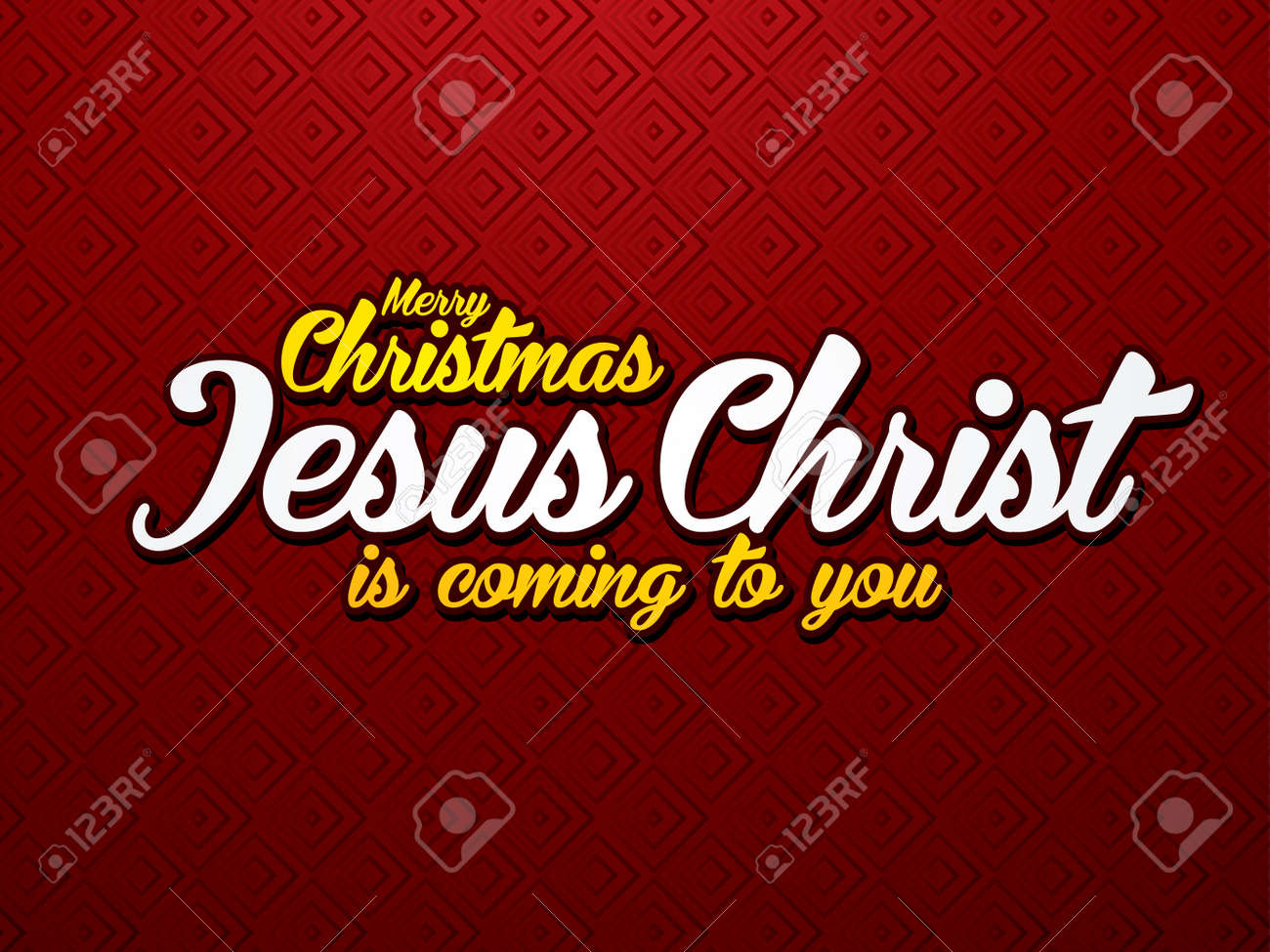 Merry Christmas Jesus Christ Is Coming To You. Font Designed ...